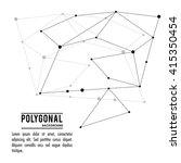 polygonal design. geometric... | Shutterstock .eps vector #415350454