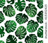 seamless pattern of leaves... | Shutterstock .eps vector #415352425