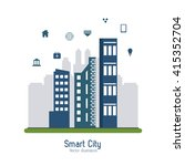 smart city design. social media ... | Shutterstock .eps vector #415352704