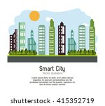 smart city design. social media ... | Shutterstock .eps vector #415352719