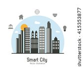 smart city design. social media ... | Shutterstock .eps vector #415353877
