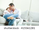 young happy couple relax on... | Shutterstock . vector #415361281