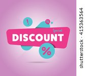 discount tag with special offer ... | Shutterstock .eps vector #415363564