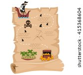 vector illustration of pirate... | Shutterstock .eps vector #415368604