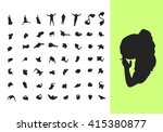 silhouettes from above | Shutterstock .eps vector #415380877