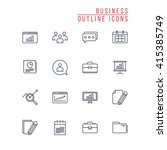 business outline icons | Shutterstock .eps vector #415385749