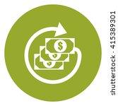green simple circle dollar cash ...