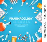 pharmacology technologies... | Shutterstock .eps vector #415390441