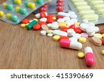 many medicine tablets and pills