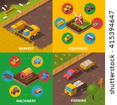 agricultural machinery 4... | Shutterstock .eps vector #415394647