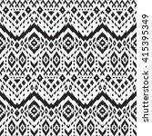 black and white vector seamless ... | Shutterstock .eps vector #415395349
