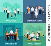 family concept icons set with... | Shutterstock .eps vector #415397449