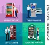Vending Machine Concept Icons...