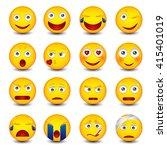set of emoticons  emoji... | Shutterstock .eps vector #415401019