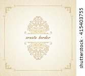 vector decorative frame....   Shutterstock .eps vector #415403755