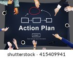 action plan planning strategy... | Shutterstock . vector #415409941