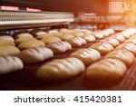 dessert bread baking in  oven.... | Shutterstock . vector #415420381