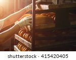 hand touching shelves with...   Shutterstock . vector #415420405