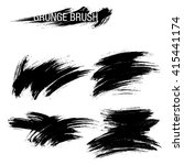 vector set of grunge brush... | Shutterstock .eps vector #415441174