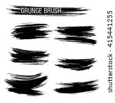 vector set of grunge brush... | Shutterstock .eps vector #415441255