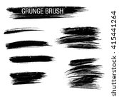 vector set of grunge brush... | Shutterstock .eps vector #415441264