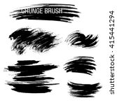 vector set of grunge brush... | Shutterstock .eps vector #415441294