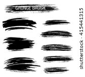 vector set of grunge brush...   Shutterstock .eps vector #415441315