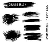 vector set of grunge brush... | Shutterstock .eps vector #415441327