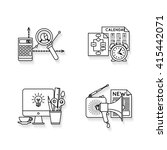 icons set with different... | Shutterstock .eps vector #415442071