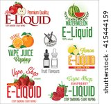 electronic cigarette liquid... | Shutterstock .eps vector #415444159