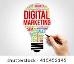 digital marketing bulb word...   Shutterstock . vector #415452145