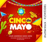 poster or party flyer of cinco... | Shutterstock .eps vector #415453381