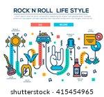 premium quality rock'n'roll... | Shutterstock .eps vector #415454965