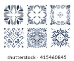collection of 6 traditional... | Shutterstock .eps vector #415460845