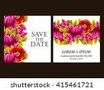 vintage delicate invitation... | Shutterstock . vector #415461721