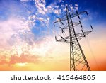high voltage post or high... | Shutterstock . vector #415464805