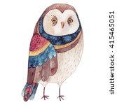 watercolor funny kids... | Shutterstock . vector #415465051
