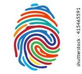 rainbow fingerprint secure... | Shutterstock .eps vector #415465591