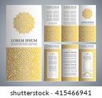 vintage islamic style brochure... | Shutterstock .eps vector #415466941