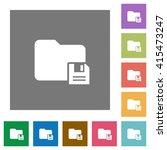 save folder flat icon set on...