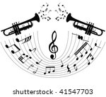 abstract music background with... | Shutterstock . vector #41547703