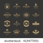vintage logos design templates... | Shutterstock .eps vector #415477051