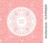 candy shop logo and seamless... | Shutterstock .eps vector #415490605