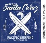 surf typography  t shirt... | Shutterstock .eps vector #415492885
