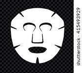 vector cotton sheet mask... | Shutterstock .eps vector #415493929