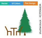 flat design icon of park seat... | Shutterstock .eps vector #415506634