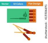 flat design icon of match box...