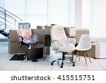 moving cardboard boxes and... | Shutterstock . vector #415515751