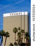 Small photo of LAS VEGAS, NEVADA - May 4, 2016: Donald Trump Becomes the presumptive GOP nominee for the office of the President of the United States