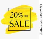 sale 20  off sign over grunge... | Shutterstock .eps vector #415526221